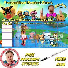 Personalised childrens reward chart Potty training reusable & stickers & pen 181