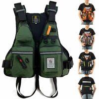 Adult Aid Vest Life Jacket Adjustable Sailing Kayak Swimming Fish Boat Outdoor