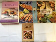 x4 Books Cooking Low-Fat - Flip Book For Cooks - Quick And Easy - Sainsbury