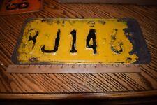 OLD LICENSE PLATE 1937  NEW YORK 8J-14-65 Antique Metal