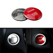 Carbon Fiber Keyless Push Start Engine Button Cover for Mercedes Benz RED/Black