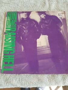 RUN DMC RAISING HELL RARE  1ST  PRESSING VINYL LP 1986 POLYGRAM  A,B2