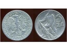 POLOGNE  5 zlotyck  1958  ( bis )