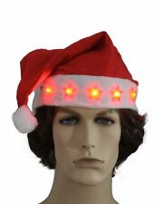 1 Christmas Father Santa Flashing Lights Hat Costume Fancy Dress Accessory Gifts