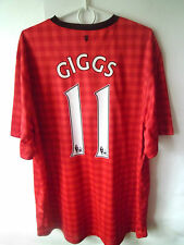 EXCELLENT!!! GIGGS !!! 2012-13 Manchester United Home Shirt Jersey Trikot XXL