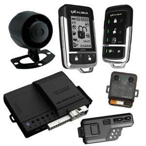 Excalibur AL18703DB Deluxe LCD 2-way Remote Start & Alarm System 1500' Range