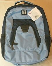 """fūl 18"""" 3 compartment Backpack Light and Navy Blue NEW ful"""