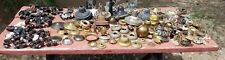 Huge lot Lamp parts Electrical Kerosene Gas Antique Patina Metal Steampunk junk