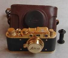 Leica II D Bildberichter copy gold in leather case (FED Zorki copy)