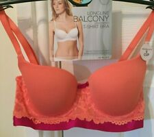 MARKS & SPENCER CORAL & FUCHSIA PINK T-SHIRT BRA, 34B & 32A, UNDERWIRED, BNWT
