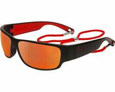 VUARNET® RIDER SPORTS 9WRAP SUNGLASSES MATTE BLACK RED FLASH MIRROR VL 1621 0004