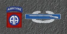 82nd Airborne & CIB License Plate -LP 258