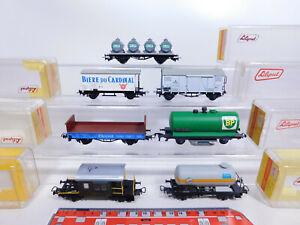 CQ226-2# 7x Liliput H0/DC Güterwagen, leichte Mängel/sg: BP+Sputnik+Hoechst etc