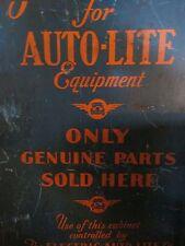 Antique Vintage Metal Auto Shop Cabinet, Auto Lite