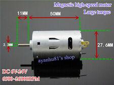 Large Torque High-power 390 DC Motor 6V-24V 12V 26000RPM Tools Mini Drill Motor