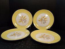 "FOUR Century Service Autumn Gold Dinner Plates 10 1/8"" (Set of 4) EXCELLENT!"