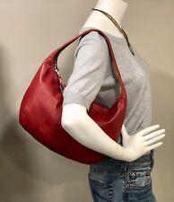 Large COACH Ergo 9221 Hobo Shoulder Bag Soft Red Leather Purse