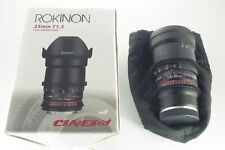 Rokinon Cine DS 35mm T1.5 Sony E Mount Camera Lens Excellent Condition In Box!