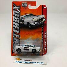 '56 Buick Century Police Car #18 * WHITE * Matchbox * G31