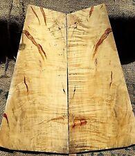 figured curly red ambrosia box elder maple drop top .26 guitar bass tonewood 567