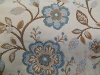 Italian Tapestry Ashdown Woven Floral Samuel Simpson Upholstery Fabric Blue