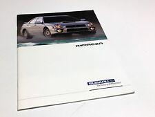 2003 Subaru Impreza 2.5 RS TS WRX Brochure