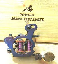 BORDER TATTOO MACHINE, LINER CUSTOM IRON BLUED FRAME CUSTOM 7&HALF LAYER COILS