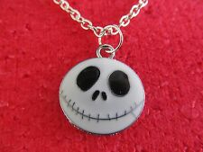 NIGHTMARE BEFORE CHRISTMAS JACK SKELLINGTON pendant necklace on link chain