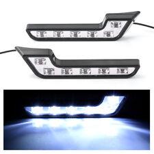 2x White 12V 6-LED Daytime Running Light DRL Car Auto Driving Front Fog Lamp E4