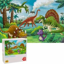 100 Piece Dinosaur Jigsaw Puzzles for Kids Toddler Ages 4-8 Learning Educational