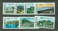 Albania Air Yvert 68/74 MNH Landscapes