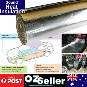 3m2 Adhesive Foam Foil Heat Shield Car Muffler Sound Proof Insulation Tool Gift