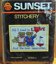 "Sunset ""Bear Necessities"" Stitchery 5 x 7"" #735"