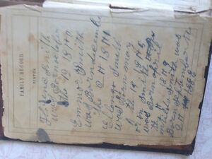 Family Bible, 4 pages of Smith family genealogy, BibleRescue
