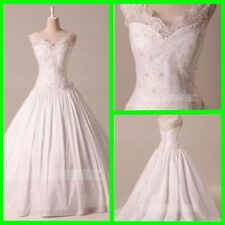 Lace Ball Gown/Dutchess Cap Sleeve Wedding Dresses