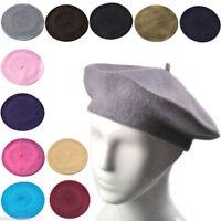 Plain Beret Hat Wool French Beret Winter Autumn Women | Girls Fashion Hats
