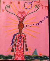 original Drawing OUTSIDER ART BRUT by Jay Snelling Figure
