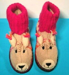 Garnet Hill Wool Slippers Shoes  Alpaca Girls size 4