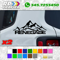KIT 2 ADESIVI JEEP laterale STICKERS decal renegade 4x4 MONTAGNE