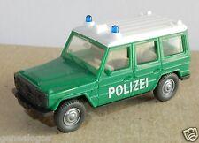 WIKING HO 1/87 MERCEDES BENZ G 350 4X4 POLICE ALLEMANDE POLIZEI intérieur crème