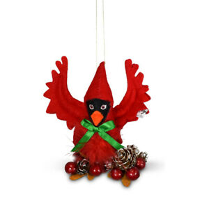 Annalee Dolls 2021 Christmas 4in Cardinal Plush Ornament New with Box