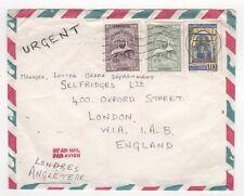 1972 ALGERIA Air Mail Cover SOUK AHRAS BÔNE to LONDON GB Selfridges