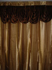"Luxurious Woven Curtain panel with valance 55""X84""+18"" Sonia"