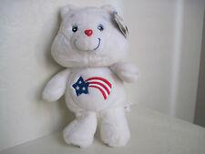 "14"" Care Bears AMERICA CARES BEAR 20th Anniversary Plush Stuffed Animal"