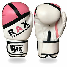 Ladies Pink Boxing Gloves Bag mitts MMA jab women fight training sparring  R A X