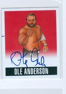 "OLE ANDERSON ""RED AUTOGRAPH #A-OA1 #4/5"" LEAF ORIGINALS WRESTLING 2014 WCW NWA"