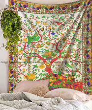 Indian tree of life mandala hippie tapestry throw queen wall hanging bedspread