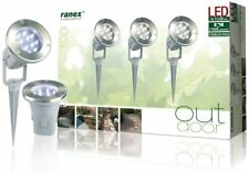 Ranex Out Door Led Lights - Ground Spot Set – 3-pack – 12 V – Stainless steel