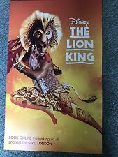 Disney THE LION KING The musical Original Theatre Poster Lyceum THEATRE