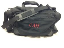 LL Bean Canvas Shoulder Duffle Gym Bag Black Athletic Carry-On Travel Overnight
